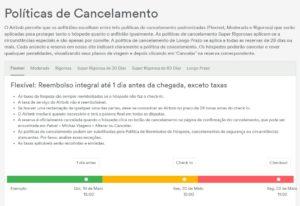 Políticas de cancelamento