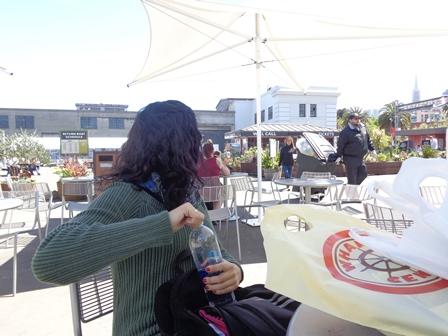 Esperando o ferry para Alcatraz