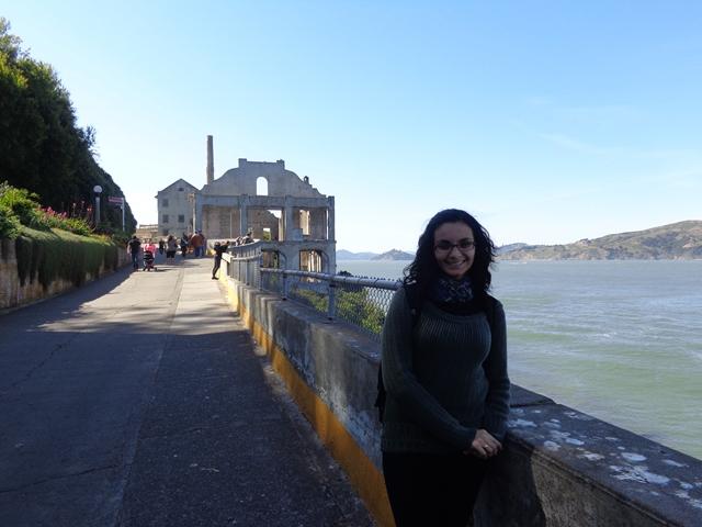Em Alcatraz iniciando o passeio