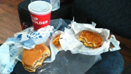 Nosso lanche do Jack in the Box