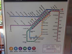 Mapa das linhas do Metro