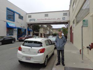 Antiga fábrica de pescados em Monterey